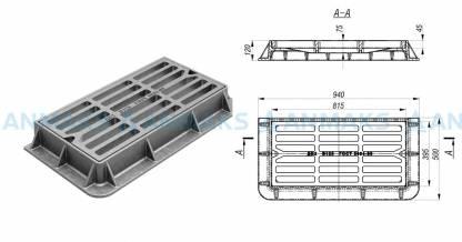 Чугунный дождеприемник ДБ-2 (B125) ГОСТ 3634-99