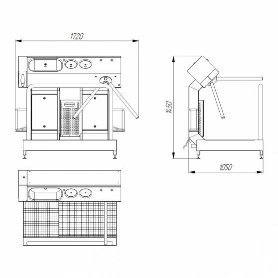 Система гигиенического доступа СП-02-16 схема