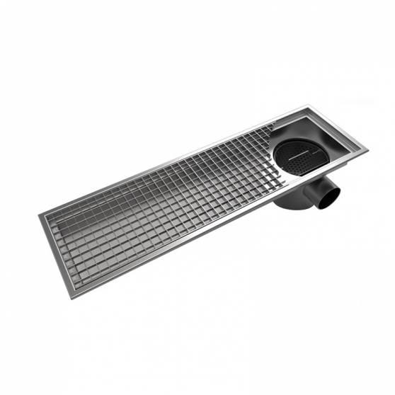 Лоток водоотводный  АМ 100-200 мм из нержавеющей стали