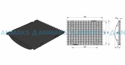 Решётка чугунная ячеистая DN300, 500-347-25, 25-14, кл. Е600