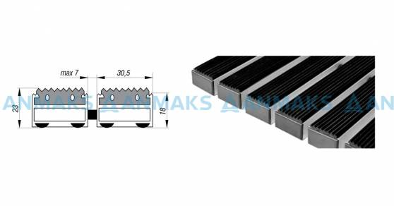 Придверная решетка Степ Резина,  A15