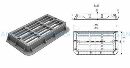 Чугунный дождеприемник ДМ-2 (С250) полосы прямые ГОСТ 3634-99