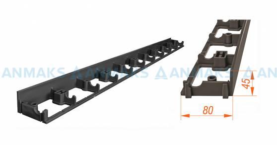 Пластиковый ландшафтный бордюр ANMAKS - 100.05.08 L-1000 мм высота 45мм