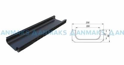 Лоток водоотводный PolyMax Basic ЛВ-20.26.08-ПП пластиковый