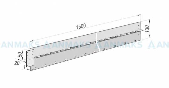 Разделительный бордюр Super 130 из нержавеющей стали