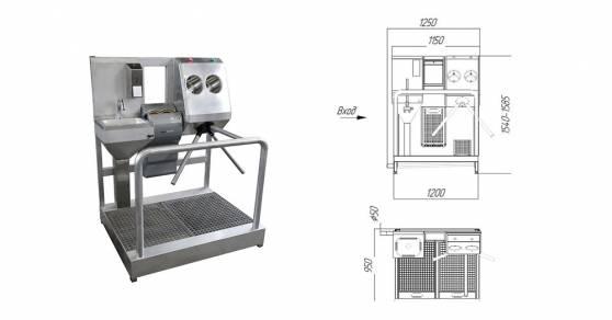 Схема 2:Система гигиенического доступа СП-02/Э/ЭД