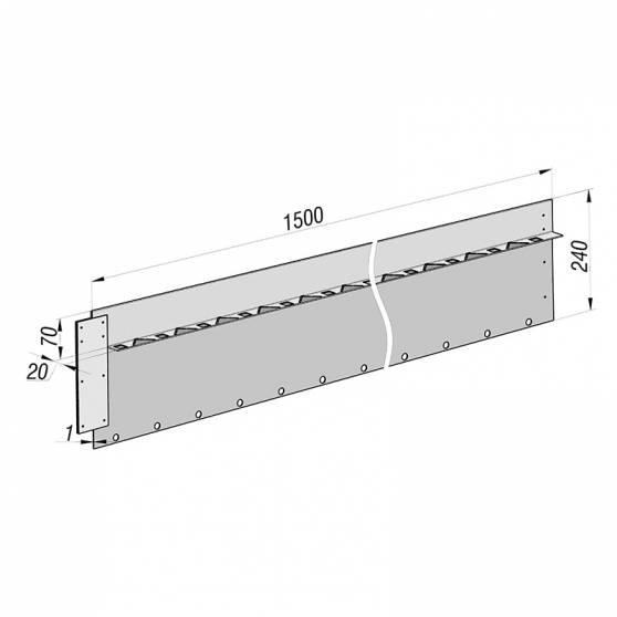 Разделительный бордюр Super 240 из нержавеющей стали
