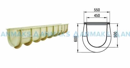 Лоток композитный ПЛ-500