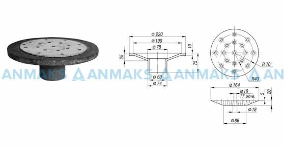 Дренажное устройство ДУ-50 (Воронка ВР.50.220.75