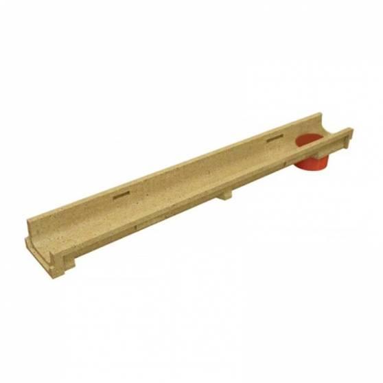 Лоток водоотводный CompoMax Basic ЛВ-10.14.08-ПВ полимербетонный