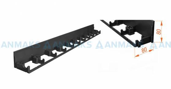 Пластиковый ландшафтный бордюр ANMAKS - 100.08.08 L-1000 мм. высота 80 мм