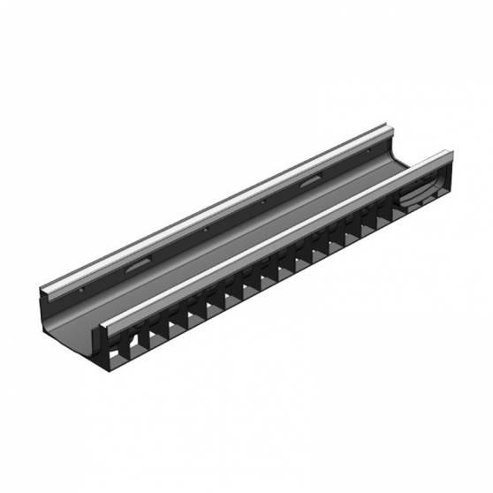 Лоток водоотводный Gidrolica Standart Plus ЛВ-15.19,6.10 - пластиковый (усиленый)