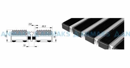 Придверная решетка Степ Резина+Скребок, A15